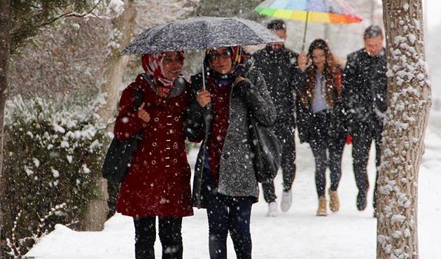 Balkanlar'dan gelen kar kapıda