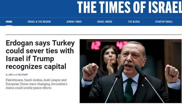 İsrail'den Erdoğan'ın açıklamalarına tepki