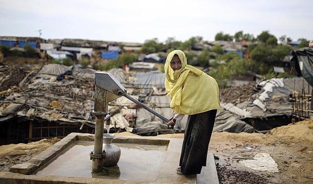 Arakanlı Müslümanlar için hayati sorun temiz su