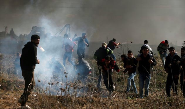 İsrail askeri 95 Filistinliyi yaraladı