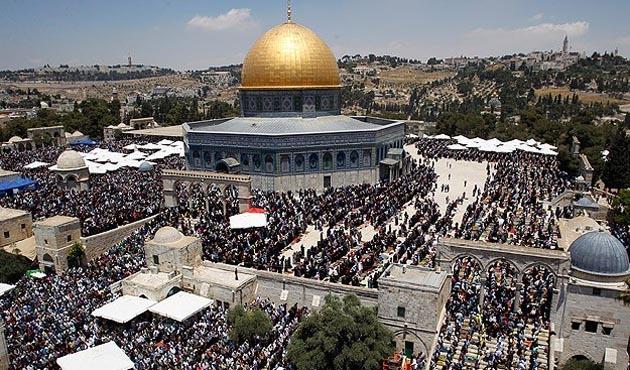 Mısır'daki Ezher Camisi'nde 'Kudüs'e destek eylemi'