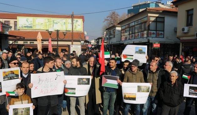 Üsküp'te ABD'nin 'Kudüs' kararı protesto edildi