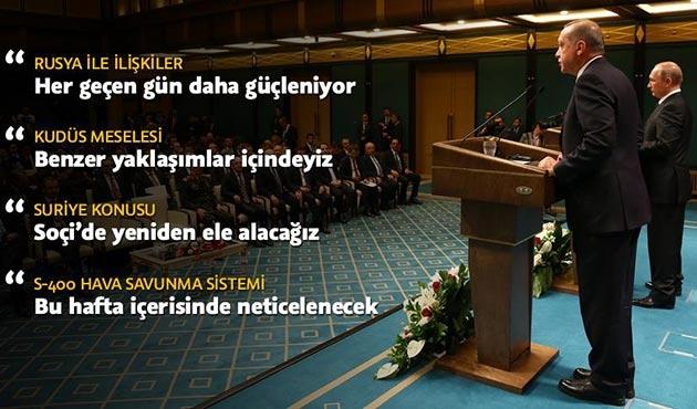 Erdoğan ile Putin'den gündeme ilişkin kritik açıklamalar