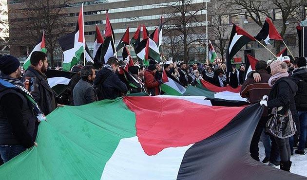 Hollanda'da ABD'nin Kudüs kararı protesto edildi