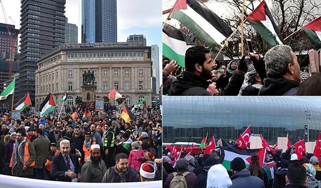 Almanya, Fransa ve Hollanda'da, ABD'nin Kudüs kararı protesto edildi