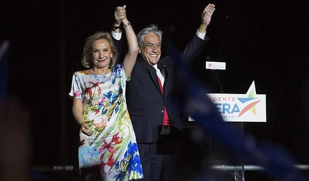Şili'de devlet başkanı seçiminin galibi Pinera oldu
