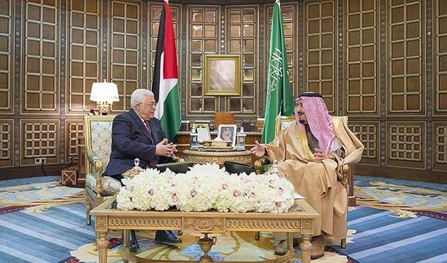 Abbas, Suudi Arabistan Kralı Selman ile görüştü