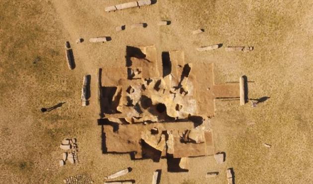 Göktürk Kağanlığı'na ait etrafı yazılı anıt bulundu