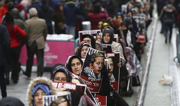 İsrail hapishanelerindeki Filistinliler için sessiz yürüyüş