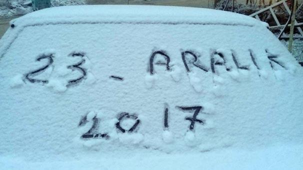 Denizli'de kar yağışı başladı
