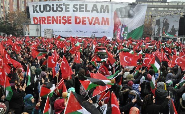 Tekirdağ'da 'Kudüs'e Özgürlük, İnsanlığa Barış' yürüyüşü