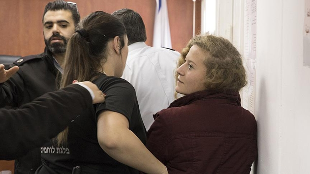 İsrail mahkemesinden Filistinli cesur kız Ahed'in serbest bırakılmasına ret