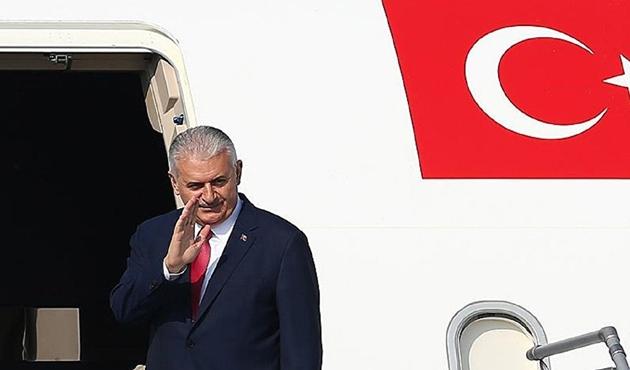 Başbakan Yıldırım Suudi Arabistan'a ulaştı