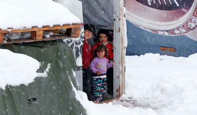 Lübnan'da yaşayan Suriyeli mülteciler kıştan endişeli