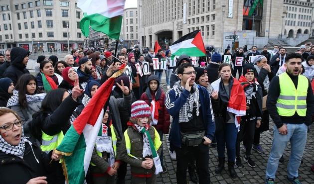 Belçika'da Kudüs protestosu