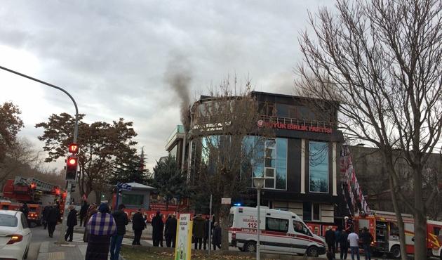 BBP Genel Merkezi'nde yangın