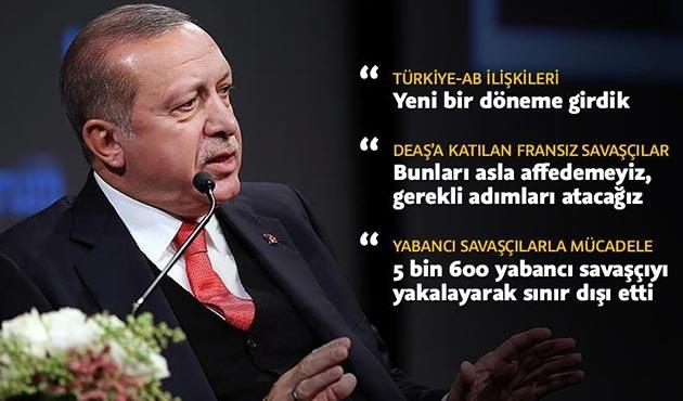 Cumhurbaşkanı Erdoğan'dan Fransız basınına kritik açıklamalar
