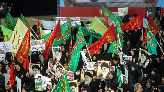 İran'da rejim yanlılarının destek gösterileri sürüyor