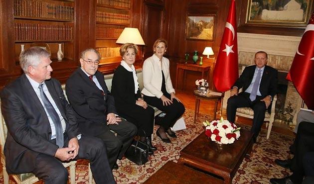 Erdoğan, Fransa'da Osmanlı hanedanının üyeleri ile görüştü