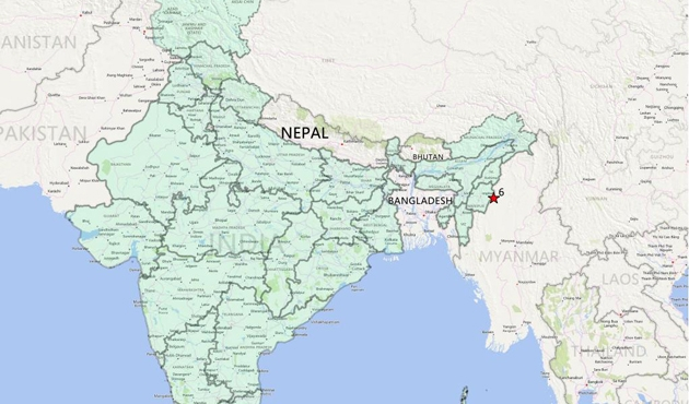 Hindistan'da 5.5 büyüklüğünde deprem oldu