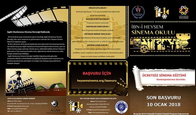 'İbn-i Heysem Sinema Okulu' başlıyor