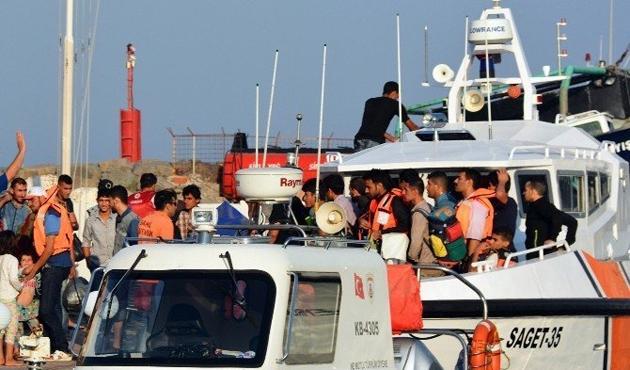 İzmir'in Dikili ilçesinde 125 Suriye uyruklu yakalandı
