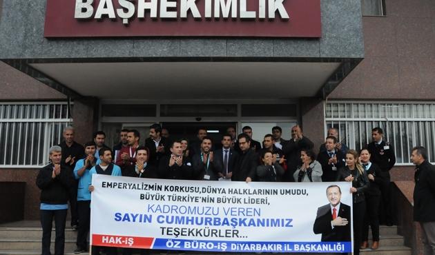 Diyarbakır'da taşeron işçilerin kadro sevinci