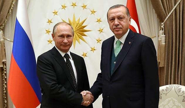 Cumhurbaşkanı Erdoğan ile Putin Suriye'yi görüştü