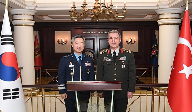 Kore Hava Kuvvetleri Komutanı'ndan Akar'a ziyaret