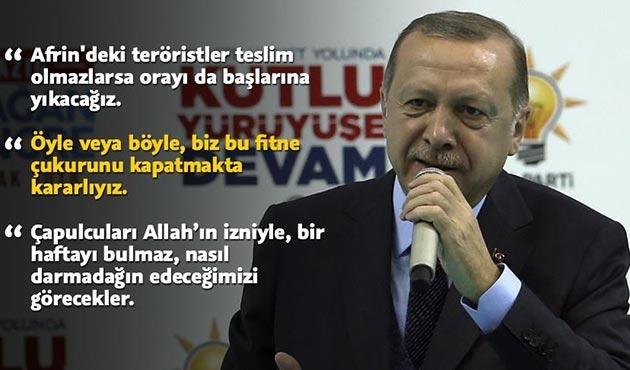 Cumhurbaşkanı Erdoğan'dan Afrin'e operasyon sinyali