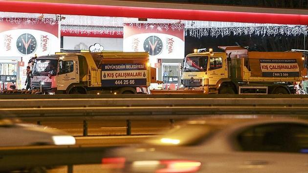 İstanbul'da kar hazırlıkları başladı
