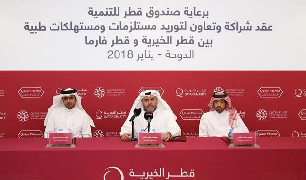 Katar'dan Suriye'ye tıbbi malzeme yardımı anlaşması