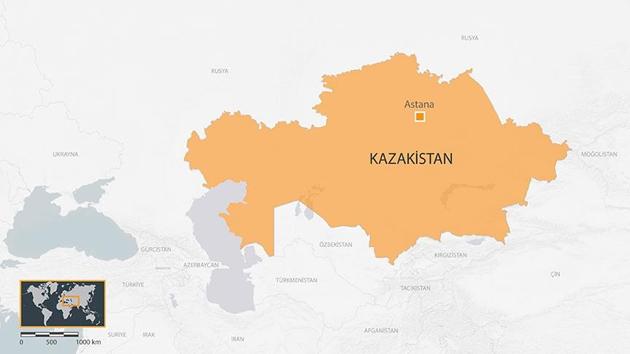 Kazakistan'da yolcu otobüsünün yanması sonucu 52 kişi öldü