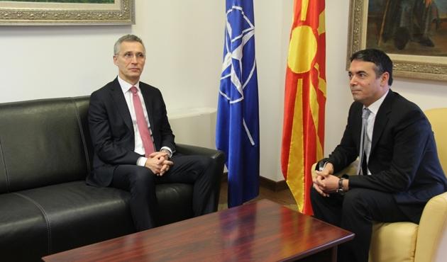 NATO Genel Sekreteri Stoltenberg Makedonya'da