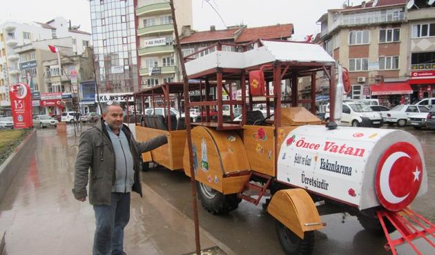 Hurda araçlarla 'Gezi Treni'