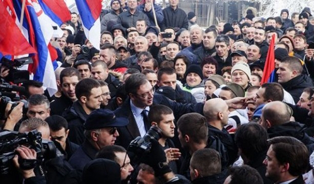 Sırbistan Cumhurbaşkanı Vucic Kosova'da