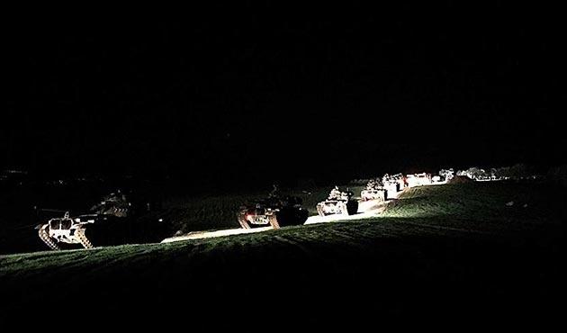 Suriye'nin Azez bölgesine askeri araç sevkiyatı gerçekleştirildi