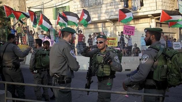 Filistin'de ABD Başkan Yardımcısı Pence'in ziyaretine protesto