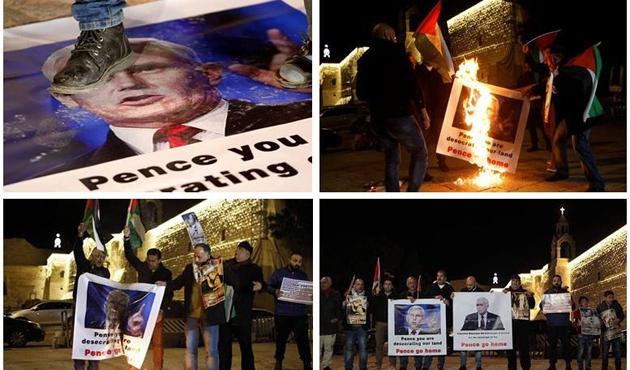 ABD Başkan Yardımcısı Pence'in İsrail ziyaretine protesto