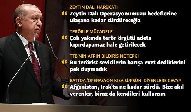 Cumhurbaşkanı Erdoğan'dan 'harekat kısa sürsün' diyenlere cevap