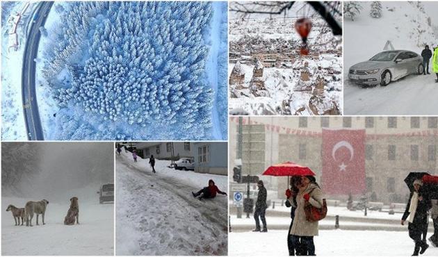 Doğu Anadolu'da kar yüzünden 92 ilçenin yolu ulaşıma kapandı