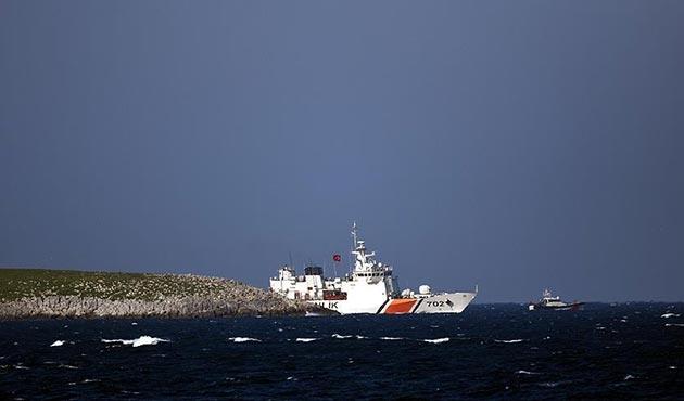 Türk Sahil Güvenliği Kardak devriyesinde