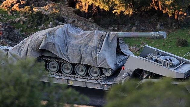 Azez bölgesine askeri araç sevkiyatı