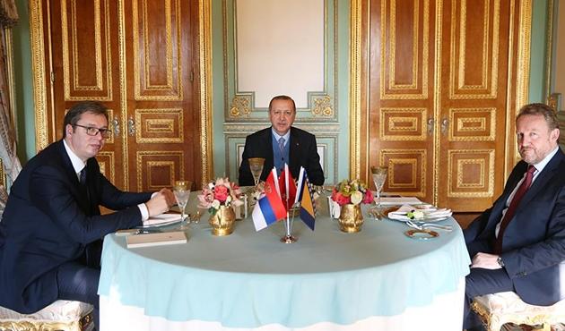 Cumhurbaşkanı Erdoğan, Vucic ve İzzetbegovic'i kabul etti