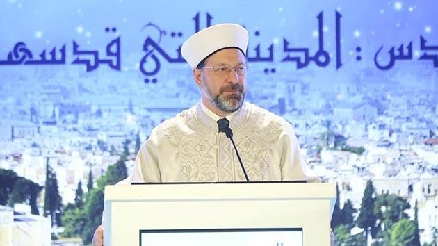 Diyanet İşleri Başkanı Erbaş, 'Kudüs' toplantısının sonuç bildirgesini okudu