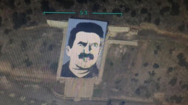 Afrin'deki 'Öcalan Anıtı' SİHA ile yok edildi