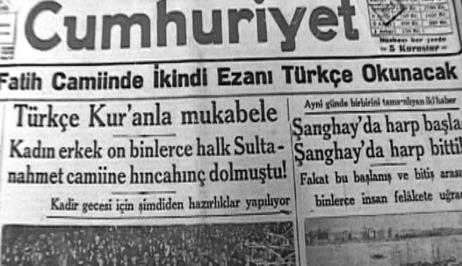 Tarihte bugün (1 Şubat): Bursa'da Türkçe ezan okunması protesto edildi