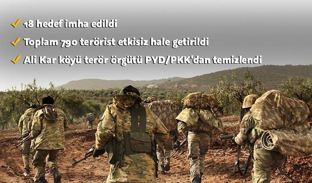 13. günündeki Zeytin Dalı Harekatı'nda bir köy daha kurtarıldı