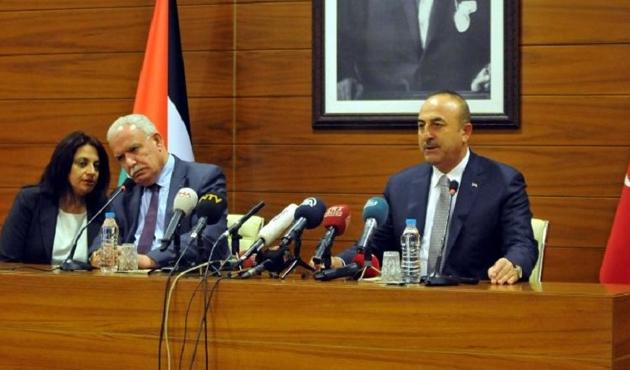 Çavuşoğlu Filistinli mevkidaşı ile görüştü