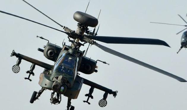 Japonya'da askeri helikopter düştü